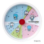 I'm Doraemon アナログ温湿度計 ID-555 WH 温度計 置き型 インテリア