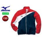 mizuno/ミズノ  N2JC7420-86 トレーニングクロスシャツ ジュニア 【150】 (ネイビー×レッド)