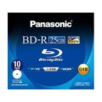 Panasonic/パナソニック  LM-BR25LDH10 Blu-rayディスク25GB4倍速/追記型ワイドプリンタブル 10枚パック