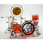 Musical Story ミニチュア ドラム フィギュア 楽器 模型 レッドツェッペリン ジョン・ボーナム LUDWIG TRANSPARENT