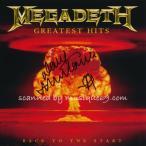 メガデス Megadeth - Greatest Hits Back to the Start: Exclusive Autographed Edition (CD)