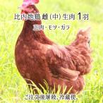 比内地鶏 中型 1羽 生肉(正肉 約1kg・もつ 約150g・ガラ 約500g) 秋田県大仙市産 むね/もも/ささみ/せせり/手羽/皮/ぼんじり/ハツ/レバー/砂肝/ガラ 送料無料