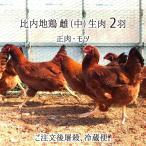 比内地鶏 中型 2羽 生肉(正肉 約2kg・もつ 約300g) 秋田県大仙市産 むね/もも/ささみ/せせり/手羽/皮/ぼんじり/ハツ/レバー/砂肝 送料無料