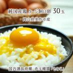 ケージ飼い卵 30個 純国産鶏 もみじ 岡山県美作市産 めぐみ 赤玉 非遺伝子組換飼料 送料無料