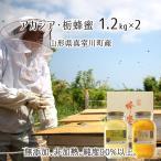 アカシア・とち蜂蜜 2種ギフト(糖度80以上、純度90以上) 無添加 非加熱 全原材料国産 天然 純粋蜂蜜 山形県真室川町産 2020年採蜜 1200g瓶×2本 送料無料
