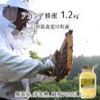 アカシア蜂蜜(糖度80以上、純度70以上) 無添加 非加熱 全原材料国産 天然 純粋蜂蜜 山形県真室川町産 2020年採蜜 1200g瓶 送料無料
