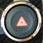 COPEN Cero コペン セロ(オプションパネル装着専用)ハザードスイッチリング(クローム)LA400K H27.6月〜/DMMC