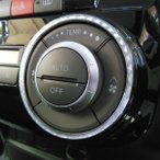 MOVE Conte Custom ムーヴコンテカスタム専用オートエアコンダイヤルリング(シルバーカーボン) L575S L585S H20.8月〜/インテリア・パーツ・DMMC