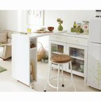 キッチンカウンター 伸縮テーブル付ラックFXD  ( キッチンワゴン キッチン 収納 作業台 食器棚 カップボード 【大型】