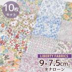 リバティファブリックス タナローン はぎれ セット 約9×7.5cm 10枚セット 《 ハンドメイド 手芸 手作り カットクロス ハギレ 端切れ アクセサリー材料 》