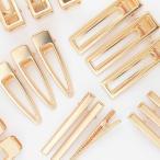 ヘアクリップ 6個組 《 ヤットコピン パッチンどめ 大人 ゴールド ヘアアクセサリー ヘアピン スリーピン 髪留め ピン 》