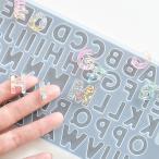 アルファベット シリコン モールド 約11×20cm 1シート 《 記号 英字 文字 レジン UVレジン 樹脂 レジン液 ピアス アクセサリー 》
