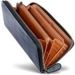 [男のブライドルレザー本革長財布] ブライドルレザー ラウンドファスナー 長財布 内装外装本革 2カラー メンズ 財布 [GRACIA] グ