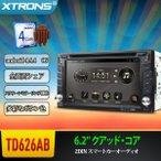 (TD626AB)XTRONS Android 4.4.4 車載PC 静電式マルチタッチ 2DIN 6.2インチ カーオーディオ DVDプレーヤー 全画面シェア 3G WIFI GPS ミラーリング OBD2対応