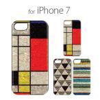 【訳あり アウトレット】iPhone7 ケース ikins 天然貝ケース 幾何学デザイン (アイキンス テンネンガイ キカガク)アイフォン カバー モンドリアン ピラミッド