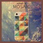 iPhone7 ケース ikins 天然貝ケース  Mosaic(アイキンス テンネンガイ モザイク)アイフォン カバー ホワイトフレーム 予約【12/28入荷予定】