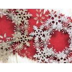 クリスマス リース 飾り 雪の結晶 オーナメント 装飾 直径30cm 金銀