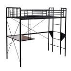 デスク付き ロフトベッド ベッド パイプベッド シングルベッド テーブル付き オシャレ ロフトベッド ベッド 子供用 大人用 工業風
