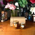ピーナッツハニーL(200g) + ナッツの蜂蜜漬け エトワールM(90g) / ナチュラルクラフトボックス(M) + 麻紐リボン