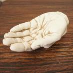 アンティーク調 ハンドアシュトレイ 手の形の灰皿 左手 ボロン樹脂製