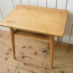 アンティーク調 木製 ベッドサイドテーブル チーク無垢 ナチュラル
