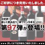 ワイン 第96弾 楽しく飲み比べ 赤ワイン5本セット