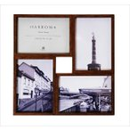 フォトフレーム 壁掛け 卓上 ハロウ4 HARROW4 WALNUT 写真立て 複数 おしゃれ