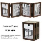 ショッピングフォトフレーム フォトフレーム リンキング フレーム Linking Frame WALNUT L版 写真立て プレゼント 結婚祝い 複数 おしゃれ