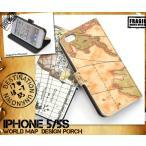 iPhone5/iPhone5S/iPhone5 SE  ケース 手帳型 スマホケース レトロマップ アイフォン5専用 カードポケット付