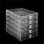 ショッピングアクセサリー アクリルアクセサリーケース(引き出し式)4×5マス5段 収納 ディスプレイボックス