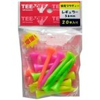 レザックス TEE-OFF 蛍光プラスティックティ アイアン 56mm/20本 TOPL-2127 LEZAX