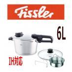 ショッピング圧力鍋 圧力鍋 Fissler/フィスラー プレミアムプラス ガラスフタ付 圧力鍋 6L