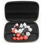 TRPG ボードゲーム カードゲーム 用 多面体 サイコロ ダイス 30個 セット 3色(黒・赤・白)×10種 収納・持運びに便利なハードケ ース付き