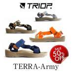 サンダル ミュール フラットサンダル 50%OFF TRIOP トリオプ TERRA-Army テラ・アーミー 通販 即日発送可