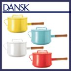DANSK ダンスク ソースパン SAUCEPAN 片手鍋 深型 18cm チリレッド ホワイト ティール イエロー ホーローウェア