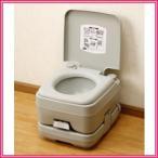 送料無料■本格派ポータブル水洗トイレ 10L 水洗式の簡易トイレで清潔&快適 レジャーや緊急時にも重宝
