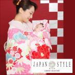 お宮参り レンタル 着物 女 赤ちゃん 初着 産着 「JAPAN STYLE 白地にうさぎと花 絵羽柄
