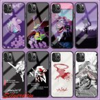 iPhoneケース エヴァンゲリオン EVA スマホケース  強化ガラス 耐衝撃 i アイフォン iphone11 アイフォンケース iphone8 携帯カバー ス 携帯ケース