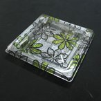惣菜用 プラスチック容器 クリーンカップ つどい13B サチ緑 本体+フタ 1,200組 − リスパック