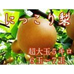 にっこり 梨 5キロ箱 6玉 7玉 大玉サイズ にっこり梨 栃木県産 ブランド梨 あすつく