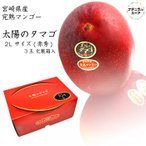 太陽のタマゴ 2L サイズ 3玉化粧箱 宮崎県産 マンゴー 最高級品 ご贈答用に最適です 母の日 父の日 太陽のタマゴ 赤秀