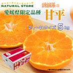 甘平 5kg 正箱 2L 3L 4Lサイズ 愛媛県産 みかん かんぺい 高糖度 プレミアム柑橘 ギフト 贈答用 箱買い