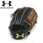 アンダーアーマー/野球硬式内野手用グラブグローブ/QBB0022/サード・オールラウンド/松田選手モデル/ブラック×タン