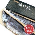 新潟・越後村上 塩引き鮭切身姿造り6kg前半(シャケ サケ 塩鮭)
