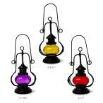 アジアンランプ/アジアンスタンド照明 ランタンガラスランプ(3カラー)・ナイト照明