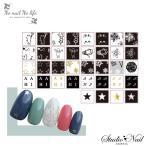 選べる18種類 NO NAIL NO LIFE NAMIKIコラボ キャット バラエティ 雪の結晶 スター 極薄ネイルシール