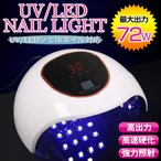 ネイル UV LED ライト ジェル レジン 高速硬化 36w CCFL不使用 二重光源 反射板 タイマー 人感センサー ホワイト  訳あり 送料無料