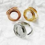 手作りアクセサリー【グルーデコアクセサリーの土台】ステンレスリング43 指輪 フリー Oデザインリング ステンレス素材【メール便OK】