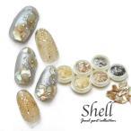 シェル6種類セット 天然貝 無着色 |ネイル パーツ ジェル ホログラム ネイルパーツ シェル クラッシュシェル ネイル用品 シェルストーン ストーン ネイルア