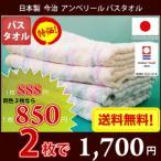 バスタオル 今治タオル 今治バスタオル 日本製 60×120cm アンベリール 同色2枚セット メール便送料無料